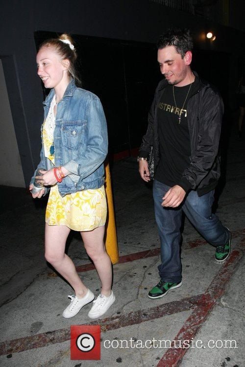 Adam Goldstein, Aka Adam Goldstein and Girlfriend Hayley Wood Head Back To Their Car After An Evening At The My House Lounge 5