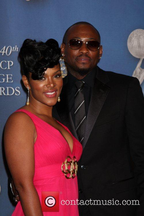 Omar Epps and his wife 40th NAACP Image...