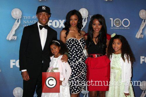 Russell Simmons and family 40th NAACP Image Awards...