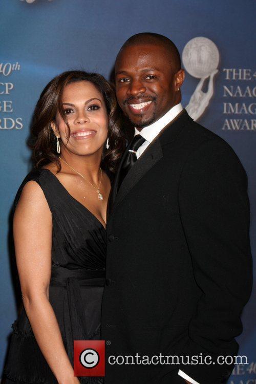 Sean Patrick Thomas and his wife 40th NAACP...