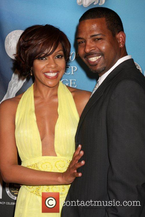 Wendy Raquel Robinson and guest 40th NAACP Image...