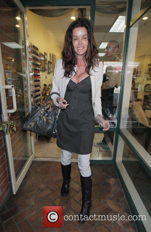 Janice Dickinson outside of a nail salon in...