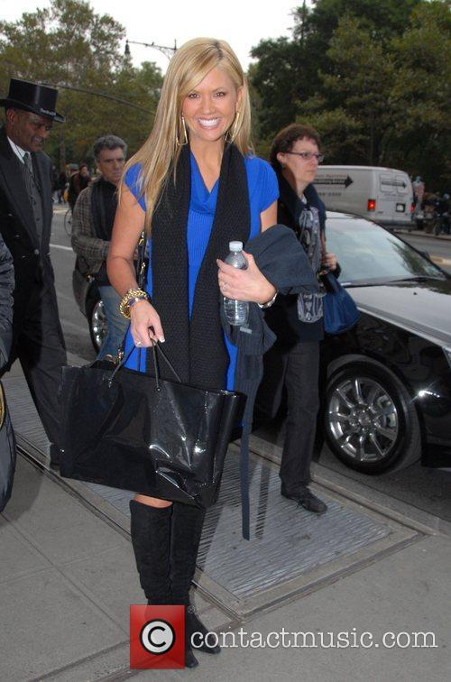 Nancy O'Dell leaving her hotel New York City,...