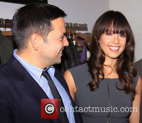 Narciso Rodriguez and Jessica Alba at Narciso Rodriguez...