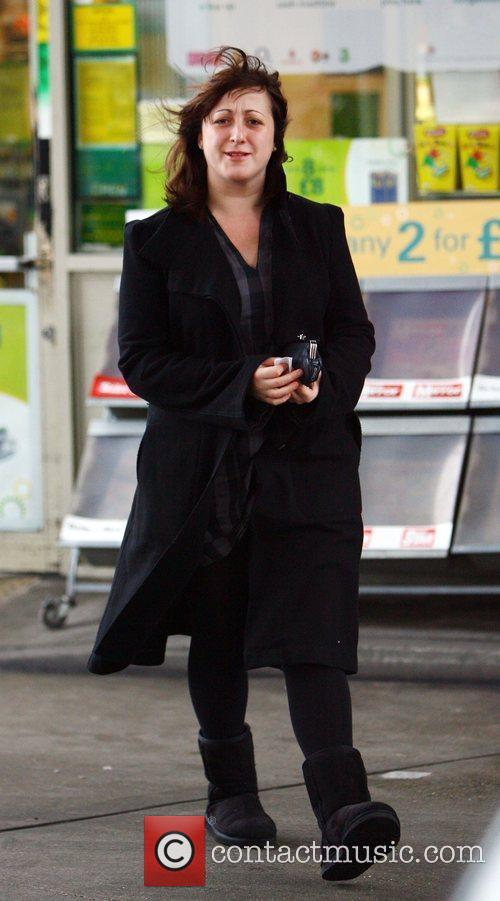 Natalie Cassidy at a petrol station