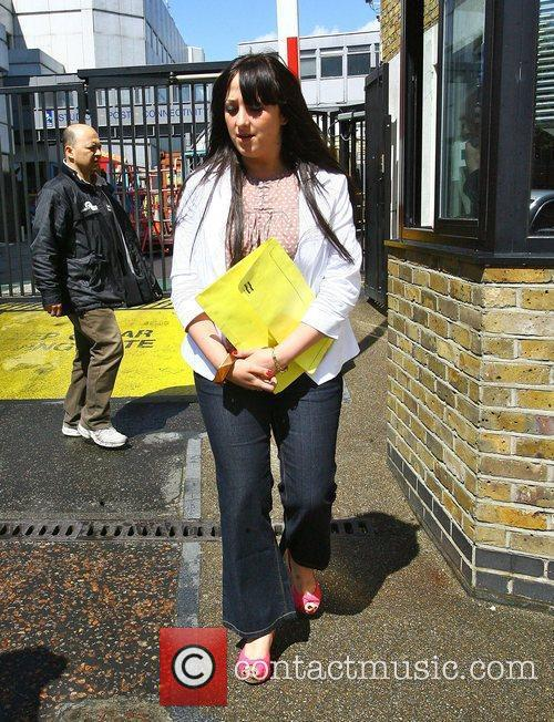 Natalie Cassidy leaving the 'This Morning' studios London,...