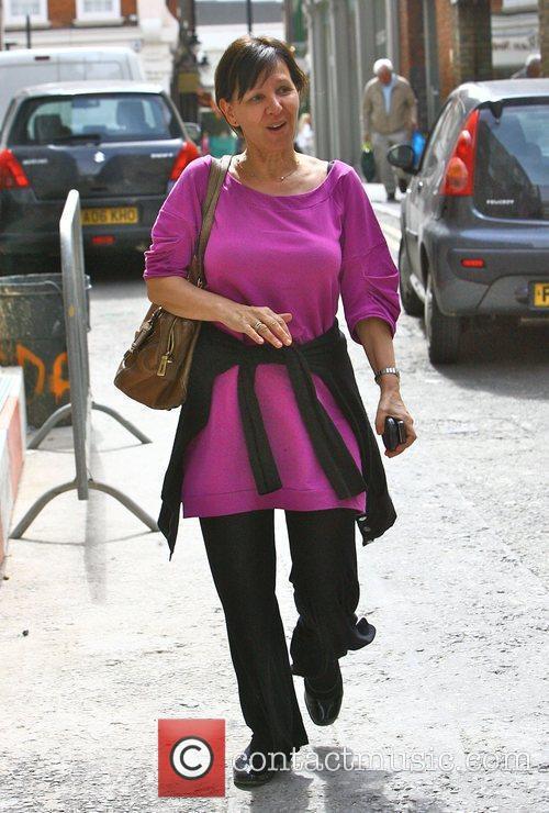 Choreographer Arlene Phillips  leaving the 'This Morning'...
