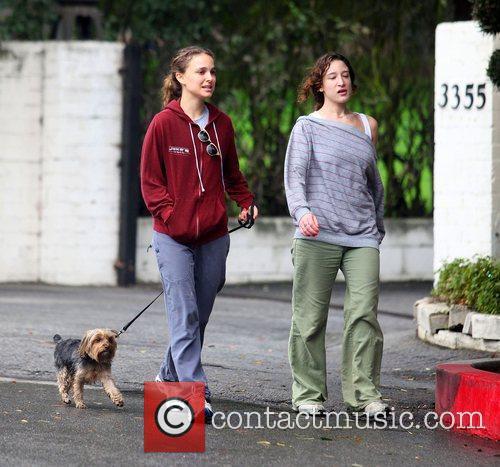 Natalie Portman walking her dog in North Hollywood...