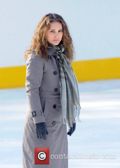 Natalie Portman on the set for 'Love and...