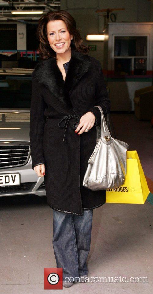 Natasha Kaplinsky leaving the ITV studios after appearing...