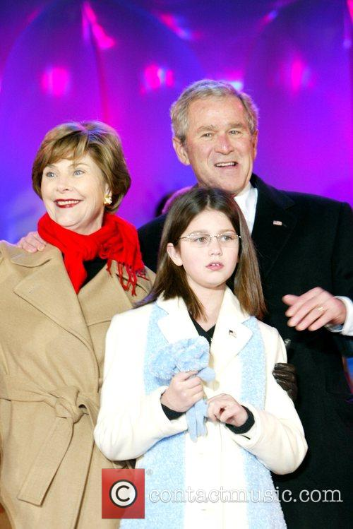 President George Bush and wife Laura welcomed Americas...