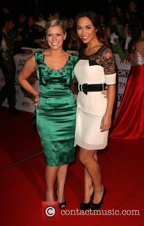 Suzanne Shaw and Myleene Klass National Television Awards...