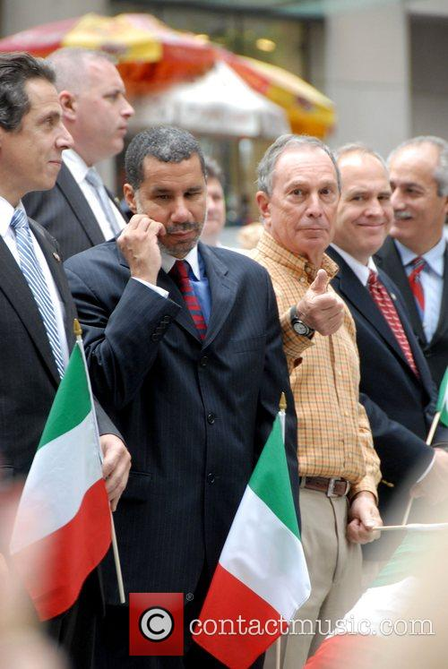 Andrew Cuomo, Governor Of New York, David Paterson, Mayor Of New York City and Michael Bloomberg 1
