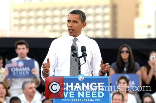 Speaks at a 'Vote for Change' rally at...