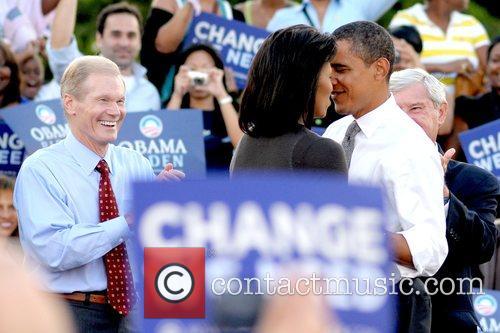 Presidential candidate Barack Obama speaks at a 'Vote...