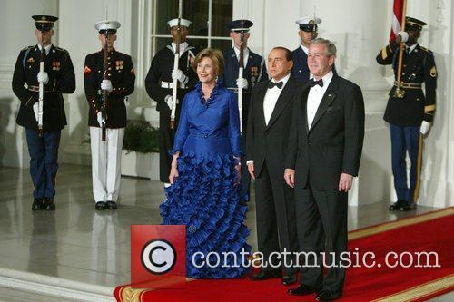 President and Mrs Bush welcome Italian Prime Minister...