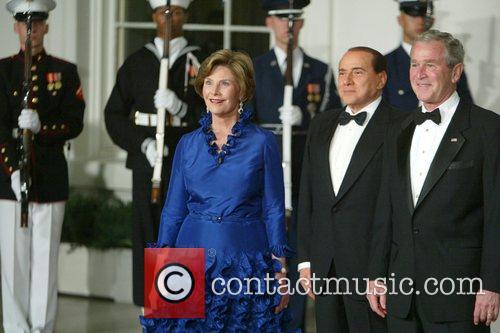 First Lady Laura Bush, Prime Minister Silvio Berlusconi...