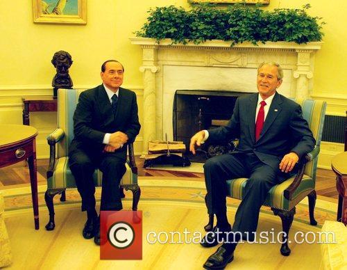 George W Bush and Italian Prime Minister Silvio Berlusconi 2