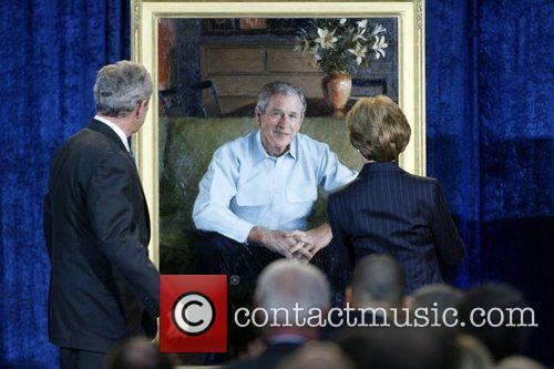 US President George W. Bush and First Lady...