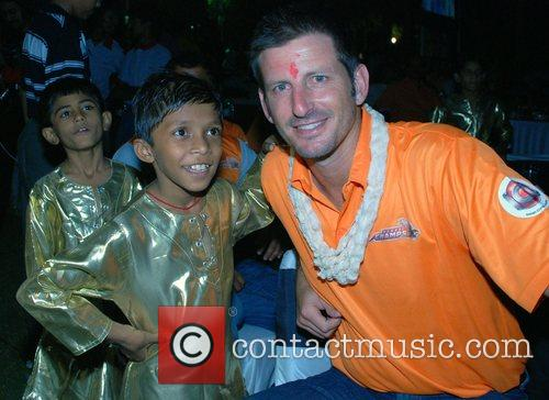 Michael Kasprowicz of Mumbai Champs  Charity dinner...