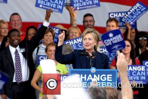 Speaks at a 'Vote for Change' rally for...