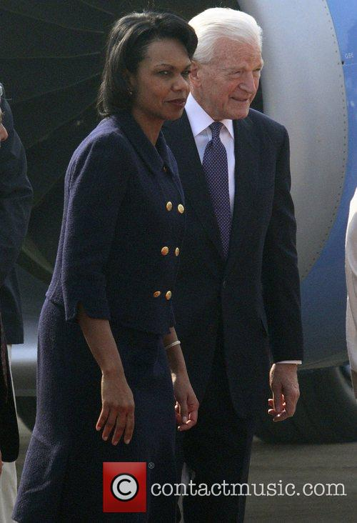 U.S. Secretary of State Condoleezza Rice arrives in...