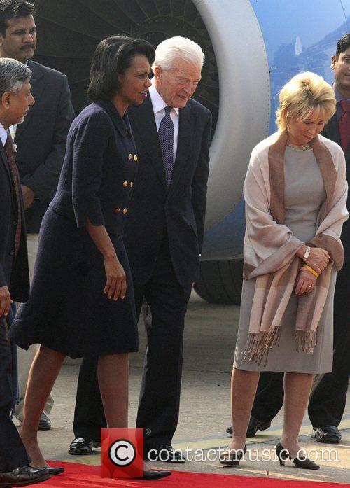 U.S. Secretary of State Condoleezza Rice arrives in...