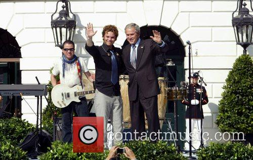 Andres Cabas and US President George W. Bush...