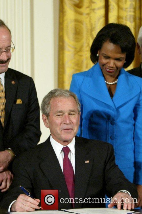 President George W. Bush and Condoleezza Rice President...