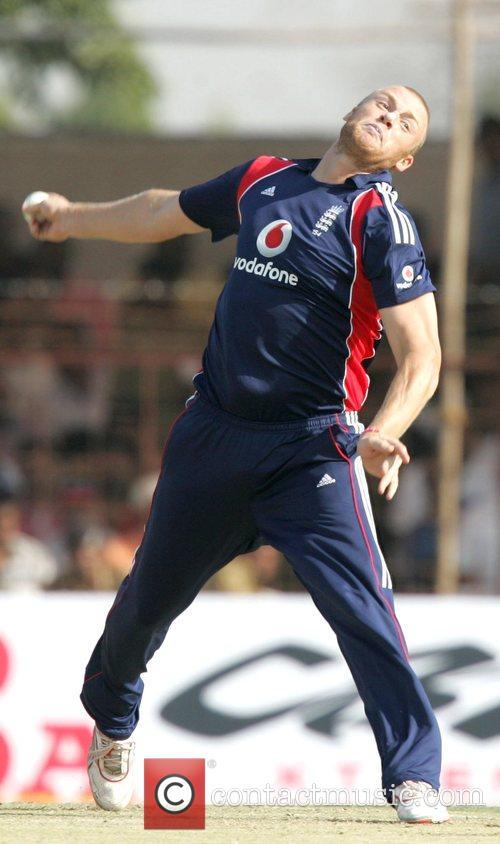 Andrew Flintoff India versus England Cricket Series 2008-09...