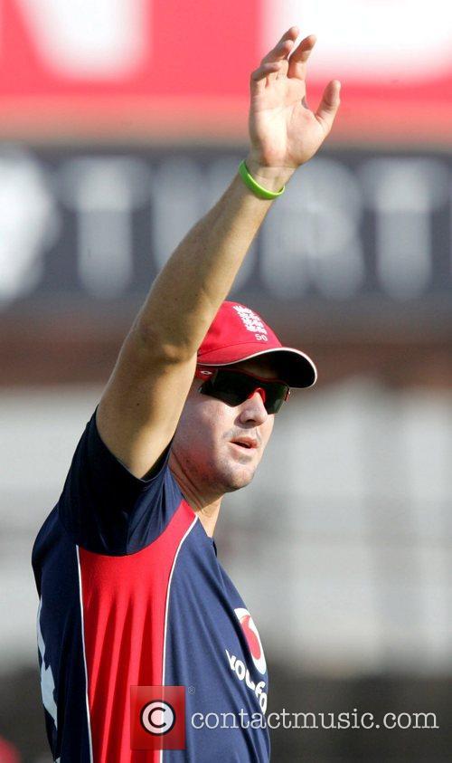 Kevin Pietersen India versus England Cricket Series 2008-09...