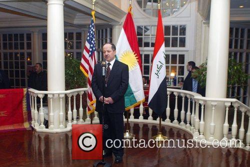 President of Iraq's Kurdistan region Massoud Barzani honoured...