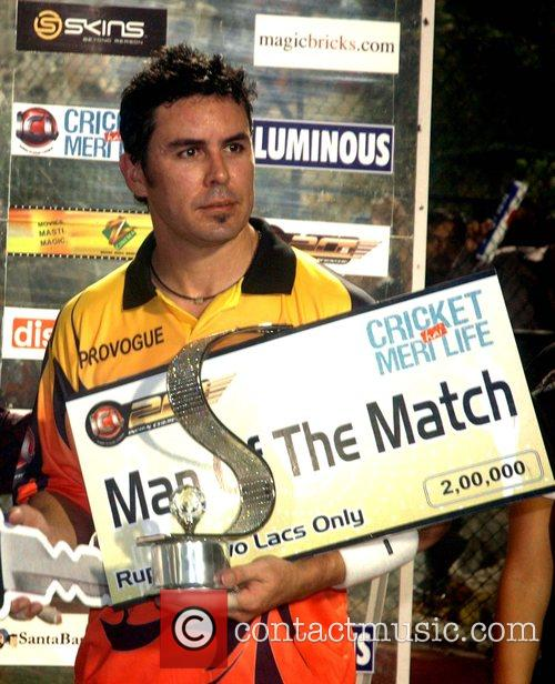 Declared Man-of-the-match against Mumbai Champs during the Indian...