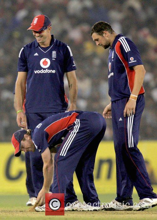 Kevin Pietersen, Paul Collingwood and Steve Harmison 5th...