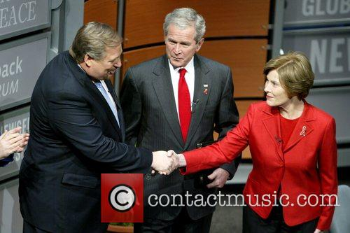 Pastor Rick Warren, President George W. Bush and...