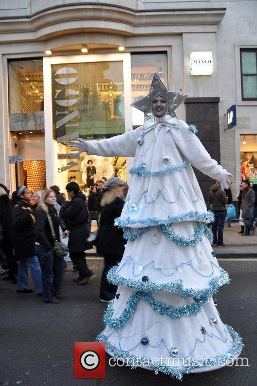Christmas Tree Oxford Street and Regent Street were...