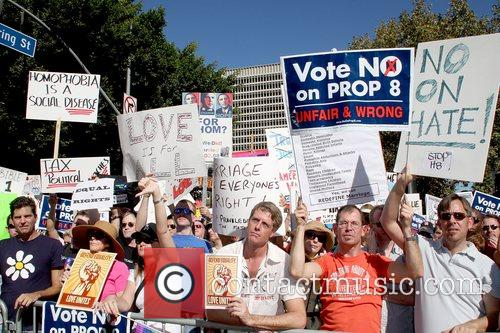 No on Prop 8 Protest Rally held at...