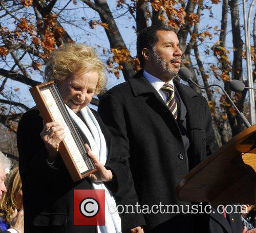 Ethel Kennedy and New York Governor David Paterson...