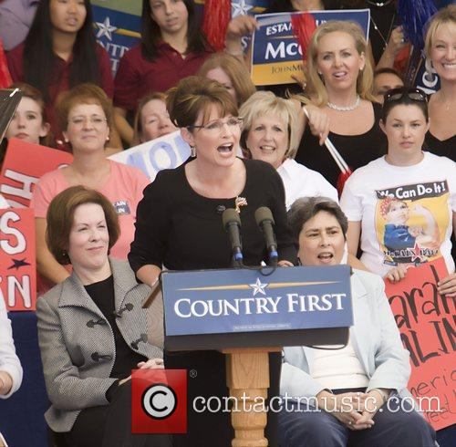 Republican Vice Presidential candidate Sarah Palin speaks at...