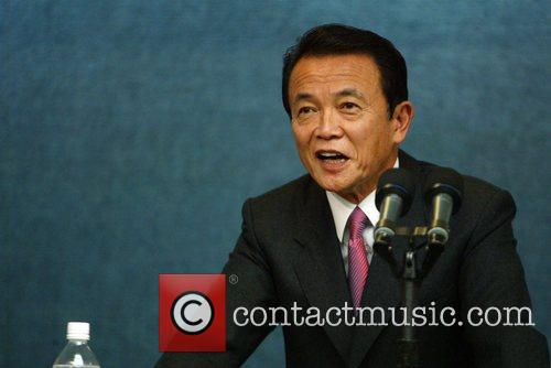 Japanese Prime Minister Taro Aso  Held a...