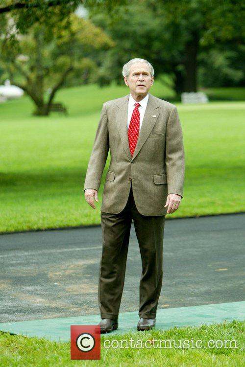 US President George W. Bush  watches his...