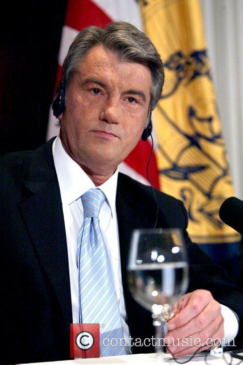President of Ukraine Viktor Yushchenko discusses news security...