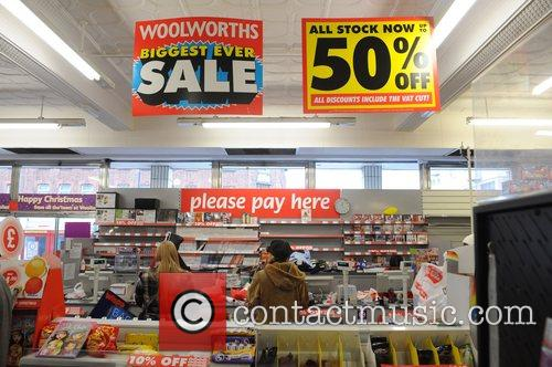 Christmas shoppers flock to Woolworths in Edgware, as...
