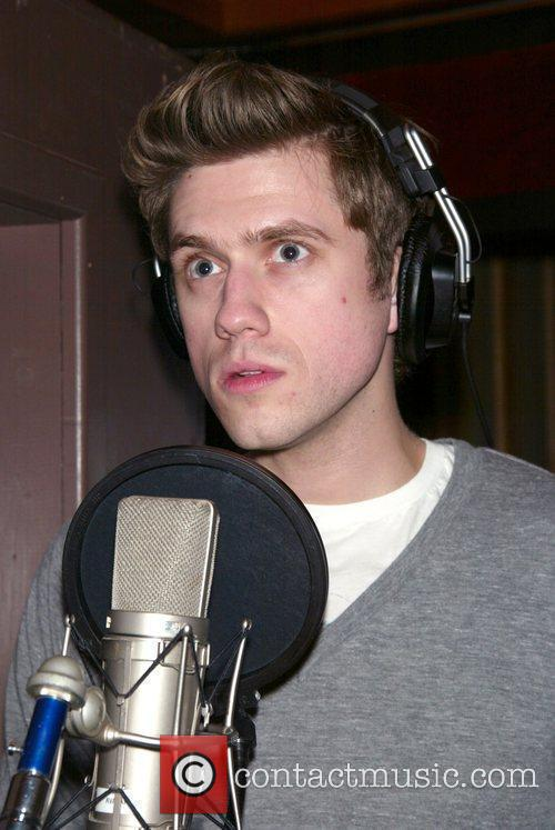 Aaron Tveit  Recording session for the musical...