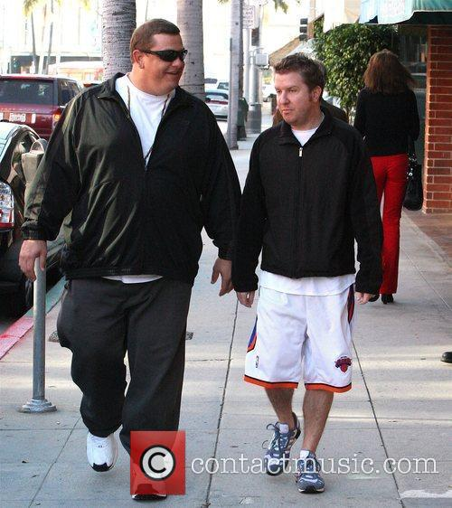 American actor and stand-up comedian Nick Swardson (right)...
