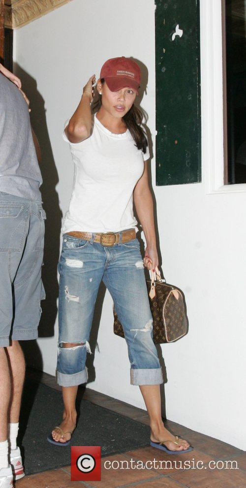 Vanessa Minnillo leaving Baby Blues BBQ after having...