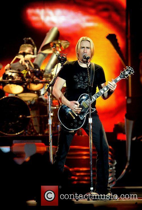 Chad Kroeger Nickelback performing live on stage at...