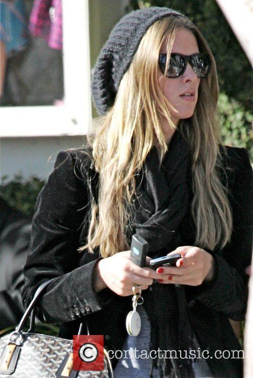 Nicky Hilton takes a walk around Beverly Hills...