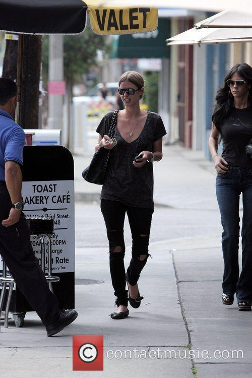 Nicky Hilton  leaving the restaurant 'Toast' after...