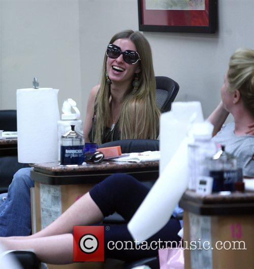 Nicky Hilton in high spirits while getting her...